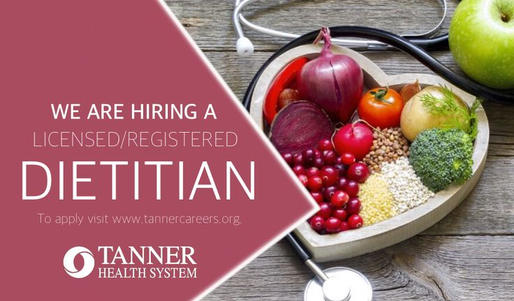 Pin By Tanner Careers On Featured Jobs Registered Dietitian
