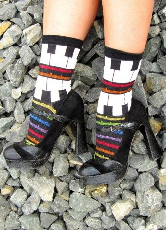 Piano play Crew socks for musicians