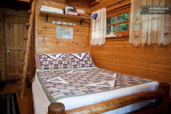 Inside the Treehouse Cabin Rental in Cave Junction, Oregon
