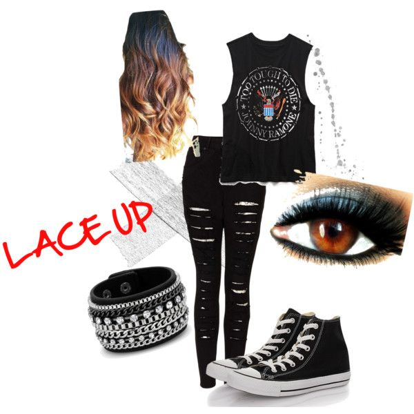 MGK concert cleveland by cassandrasur on Polyvore featuring polyvore, fashion, style, Forever 21, The Ragged Priest, Converse and Red Herring