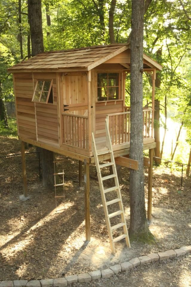 25 best ideas about kids clubhouse on pinterest play for Cool backyard tree houses
