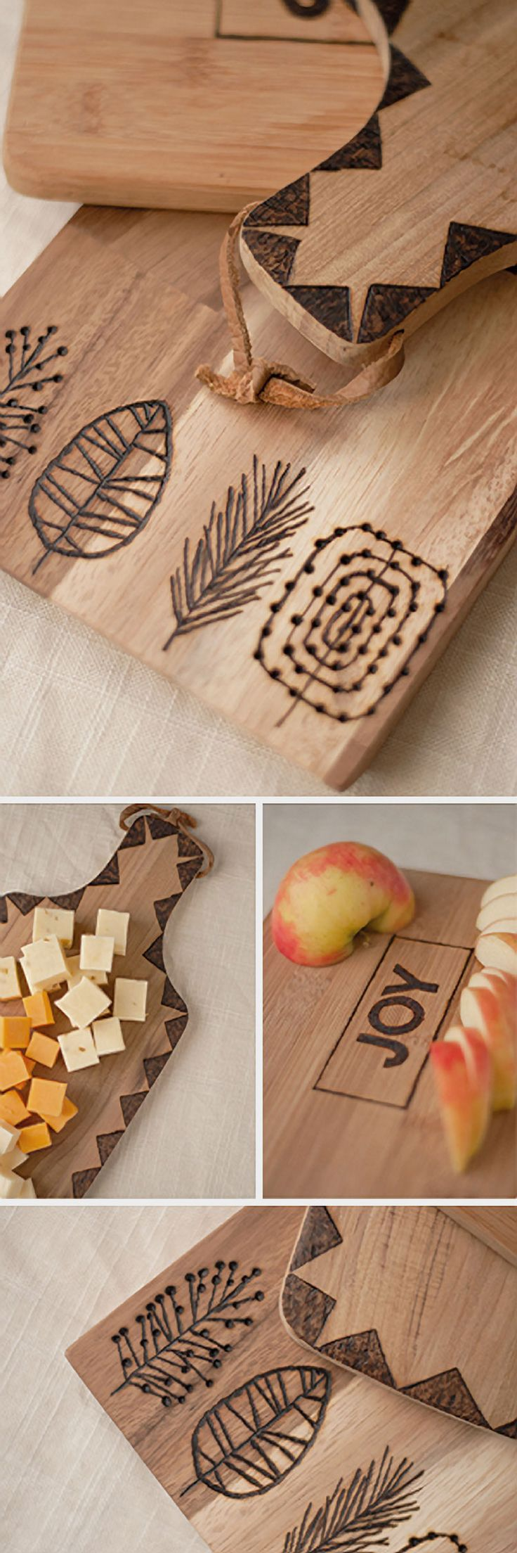 Make your cheese plate simply stunning diy wood slice cutting board - Diy Tutorial Decorate A Chopping Board Using Pyrography Via Dawanda Com