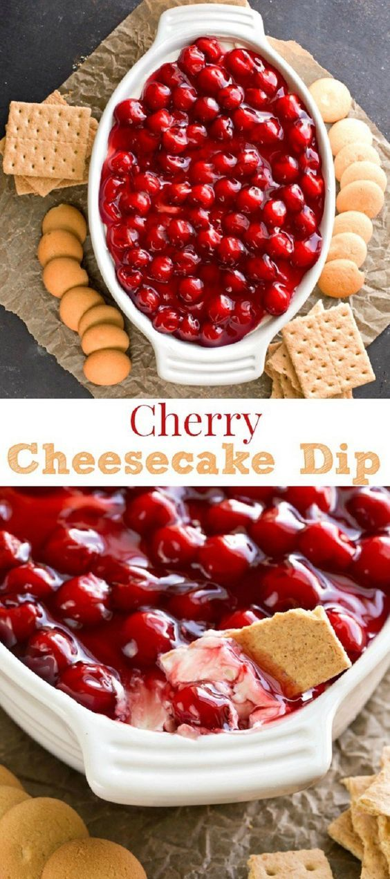 Cherry Cheesecake Dip - Thanksgiving Food List: 15 Creative Food Ideas for A Fabulous Thanksgiving Feast