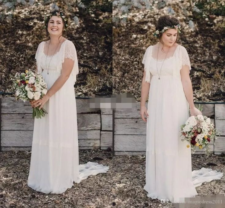 2015 Ivory Bohemian Wedding Dresses Plus Size Maternity Lace Short Sleeves Cheap Scoop Open Back Country Spring Wedding Bridal Wedding Gowns Wedding Dresses Beach Bridal Gowns Garden Vintage Wedding Gown Online with $136.0/Piece on Magicdress2011's Store | DHgate.com