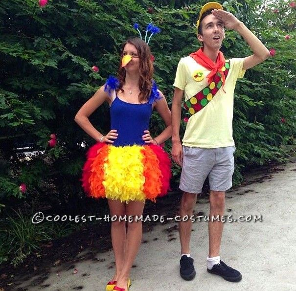 Cute Couple Costume: Kevin and Russell from Disney Pixar's Up... This website is the Pinterest of costumes