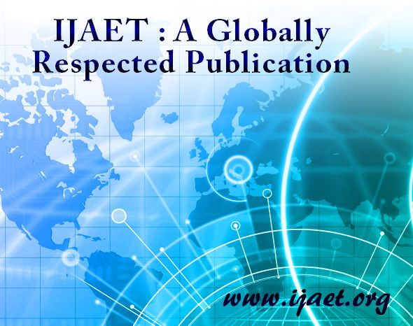 It is important that students and researchers from all over the world can have easy access to relevant, high-standard and timely scientific information. This is exactly what IJAET research database aims to provides and this is the reason why everyone should give full support to this endeavour.