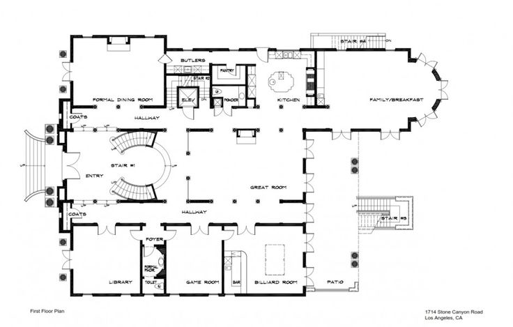 1714 stone canyon rd bel air floor plans contemporary for 10 bellair floor plans