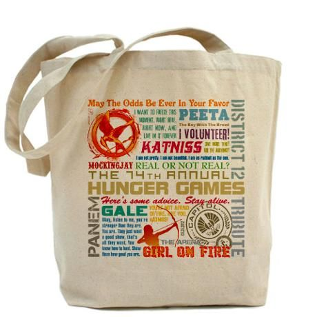 Hunger Games quote bag