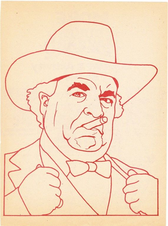 Boss Hogg coloring book page Dukes of Hazzard Sorrell Booke corrupt politician - Free U.S. shipping on Etsy, Sold