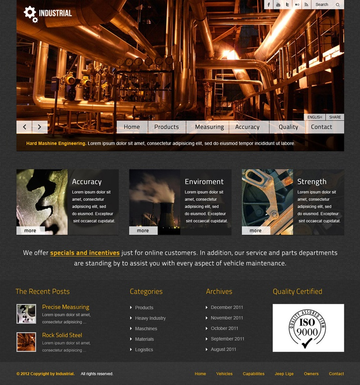 Barcelona WP Theme - Industrial Showcase Example http://preview.ait-themes.com/index.php?bartype=desktop=barcelonaShowcase Examples, Showca Examples, Industrial Showcase