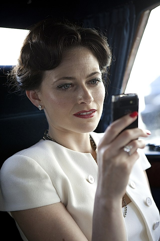 Lara Pulver as Irene Adler in Sherlock (BBC). More