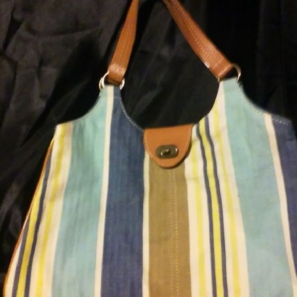Gap handbag New condition blue and yellow stripes. Gap handbag. GAP Bags Shoulder Bags
