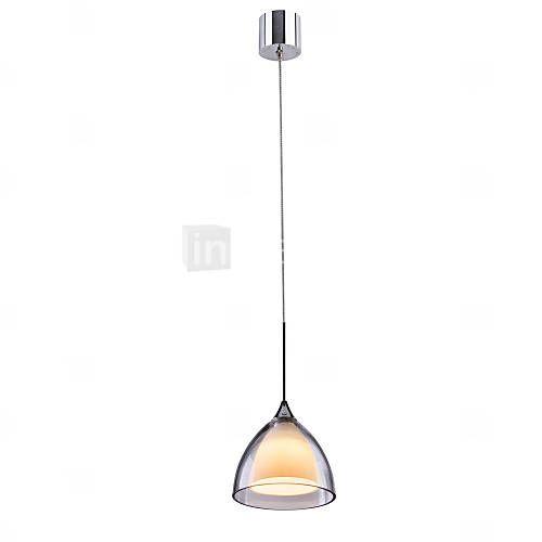 obsess® ge-09012-1 1-luz de dos capas de luz LED colgante de la isla, de vidrio transparente, cromo pulido (1 paquete 2015 – €71.64