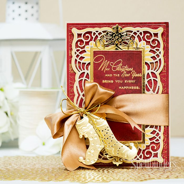 21 best spellbinders cascading grace images on pinterest for Elegant christmas card ideas