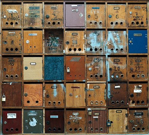apartment block mailboxes