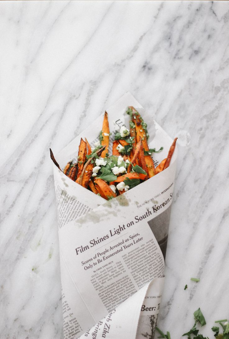 Sweet Potato Fries with Green Herb Sauce — The Feministe
