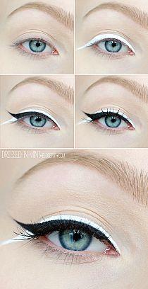 black n whie eyeliner make up