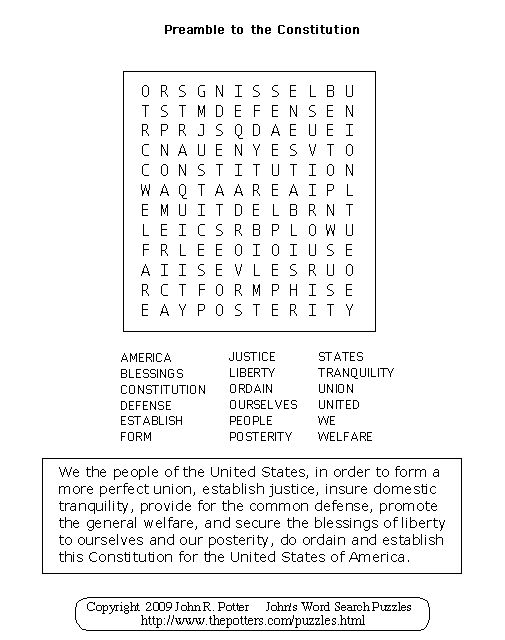 Printables Preamble To The Constitution Worksheet 1000 ideas about us constitution preamble on pinterest school to the puzzle