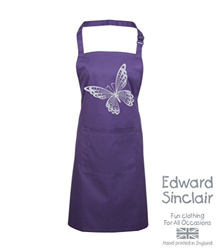 BUTTERFLY DESIGN' Purple Apron with Silver Sparkling Glitter print Edward Sinclair http://www.amazon.co.uk/dp/B00UAY5HB8/ref=cm_sw_r_pi_dp_-VSgvb1WTMXE0