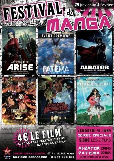 Le festival du manga. Du 29 janvier au 4 février 2014 à royan.