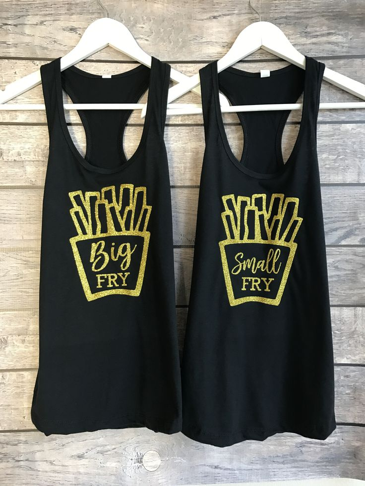 Small Little Fry | Sorority Tanks | Set of 2, sorority shirts, small fry, sorority family shirts, big little shirts, big and little shirts, big lil shirts, big lil family shirts, big little reveal, big little gbig, sorority sisters, sorority big little shirts, delta gamma, alpha pi omega
