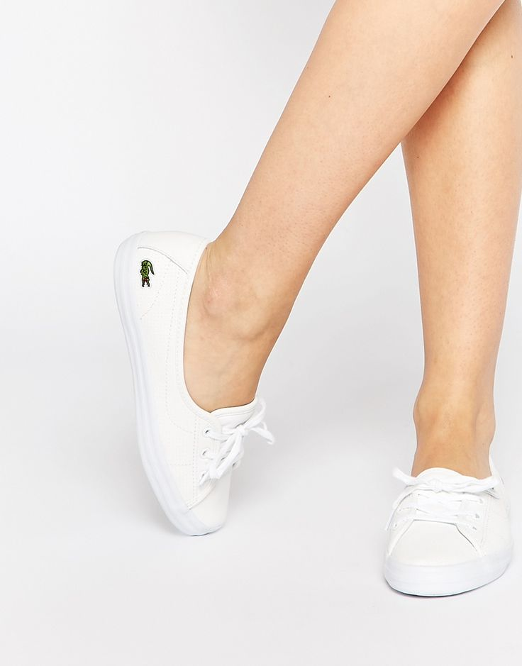 Lacoste Ziane Chunky Leather Slip On Trainers