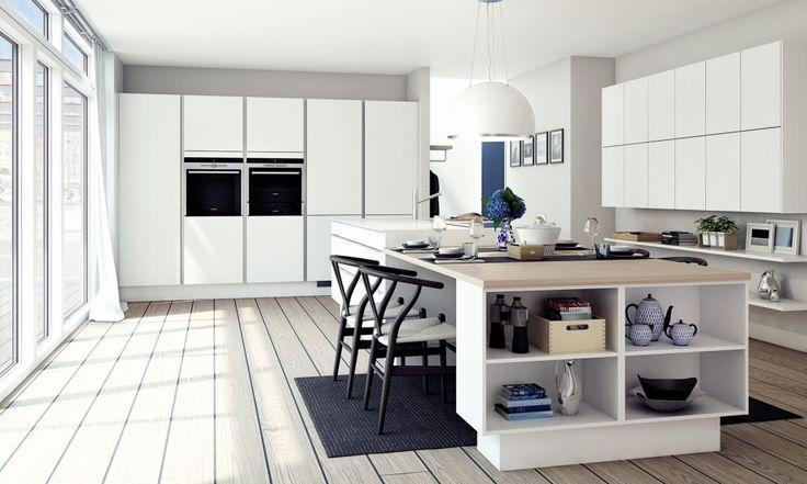 Minimalistiskt kök i tidlös design