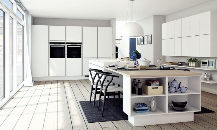 Tidløst køkken med minimalistisk udtryk Different levels
