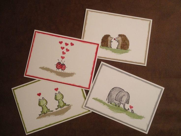 Kreative-Engelmama, Stampin´Up!, Love you lots, Marienkäfer, Frosch, Igel, Elefant und Maus (Playing Favorite)