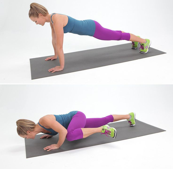 Spider-Man Push-Up: The Spider-Man push-up variation will really challenge your upper body, work your core, and targets the muscles on the sides of the torso, too. There's no room for boredom to creep into your workout when doing this push-up!
