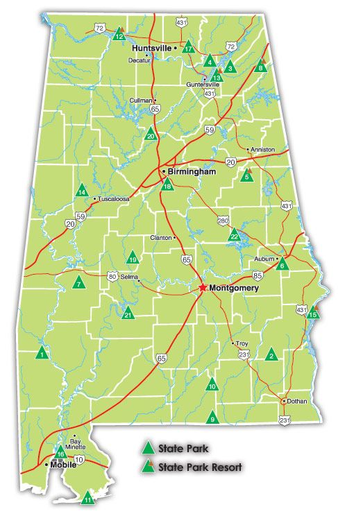 Alabama State Parks Map Alabama State Parks | Need a get away! | Pinterest | State parks  Alabama State Parks Map