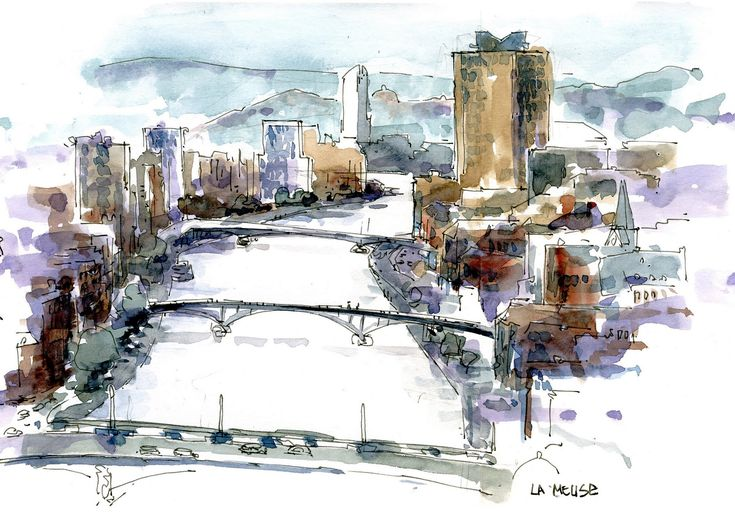 On invitation ofg the Emulation and Gerard Michel, 4 days of Urban sketching in…