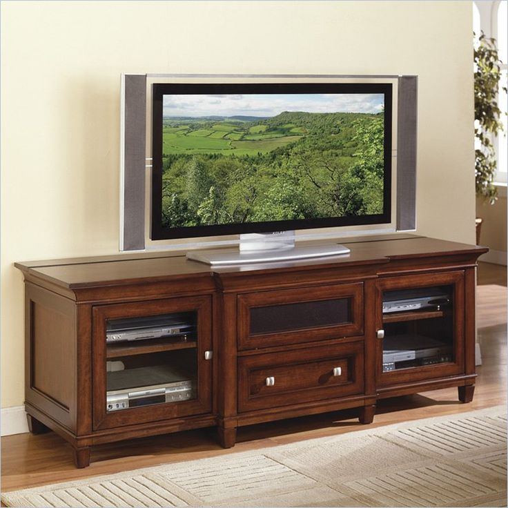 Kathy Ireland Home By Martin Furniture Bradley Wood Plasma Tv Stand In Cherry Finish Imbr369