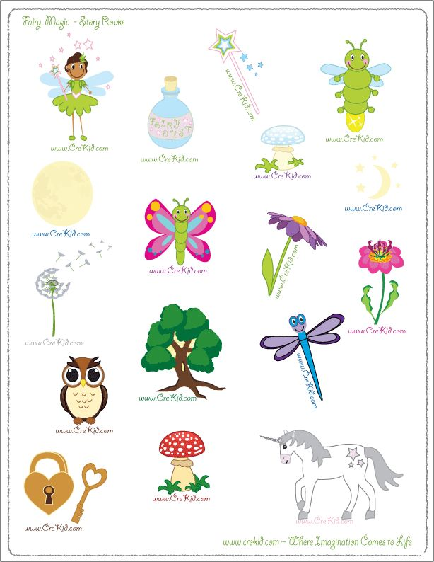 CreKid.com - FREE Story Rocks Printouts - Fairy Story Rocks - Spark your child's imagination and creativity. Preschool - Pre K - Kindergarten - 1st Grade - 2nd Grade - 3rd Grade. www.crekid.com