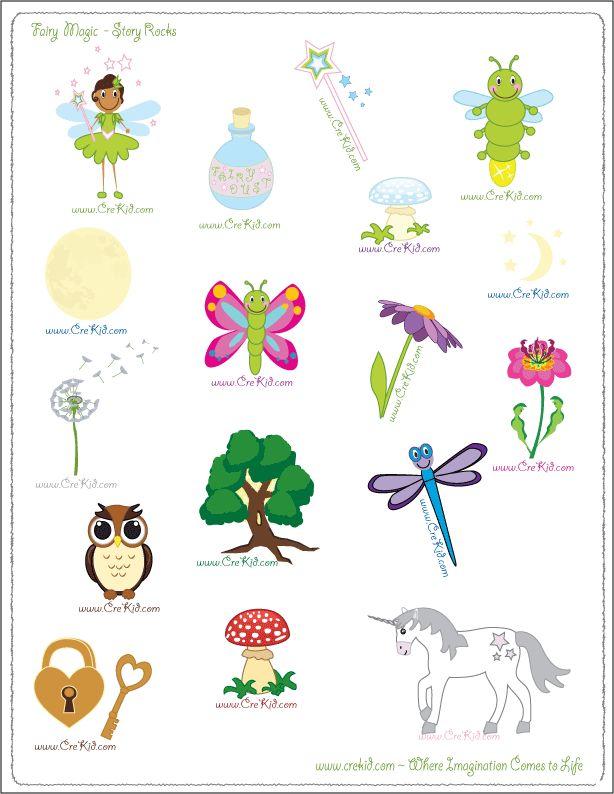 CreKid.com - FREE Story Rocks Printouts - Fairy Story Rocks - Spark your child's imagination and creativity. Preschool - Pre K - Kindergarten - 1st Grade - 2nd Grade - 3rd Grade. www.crekid.com