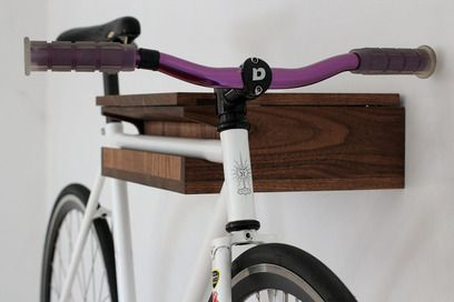 The Bike Valet by Reclamation Art Furniture is a handsome and practical addition to any cyclist's home—the wall-mounted storage unit features compartments for keys and a wallet as well a place to hang your bike. Made from urban harvest walnut and hand-rubbed with natural VOC oil finish, each Bike Valet is made to order, individually numbered and signed by craftsman Steven Tiller. Available for $185 on Etsy.