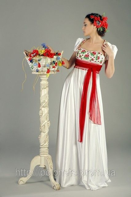 Ukrainian wedding dress