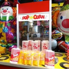 What movie is complete without popcorn?  Rent a popcorn machine for just $35/day at Party Blvd in Asheville, NC!