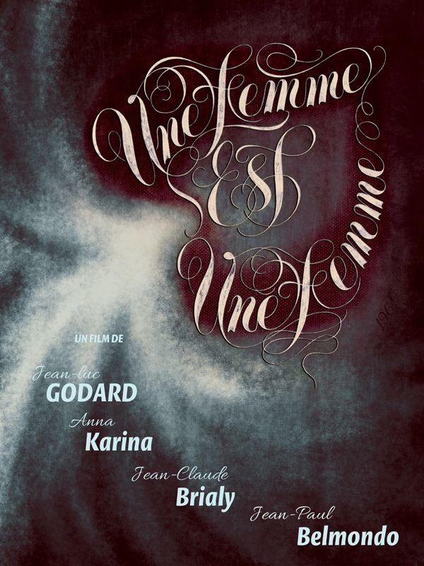 Godard Film Poster Series by Juan Villanueva, via Behance
