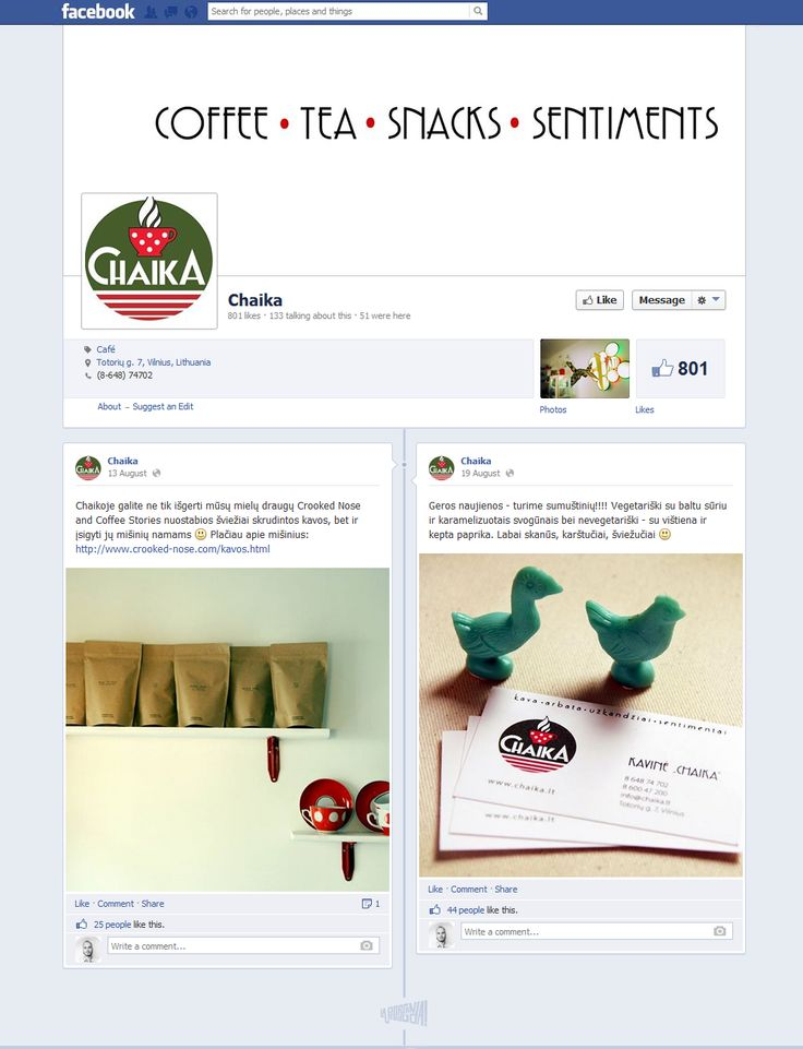 facebook.com/cafechaika #FacebookDesign
