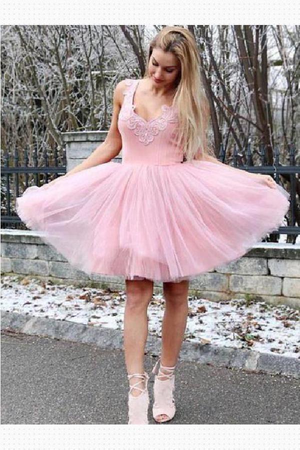 b722813390 Homecoming Dresses Pink, Homecoming Dresses Lace, Sleeveless Homecoming  Dresses, Homecoming Dress, Homecoming Dresses V-neck #HomecomingDressesPink  ...