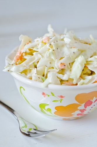 Memphis-Style Coleslaw...I'm not much of a coleslaw fan, but this looks pretty good
