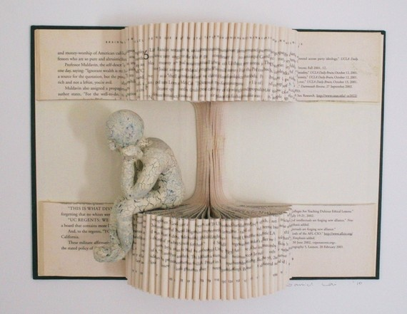 Book sculptures by Daniel Lai | books, paper, scissors