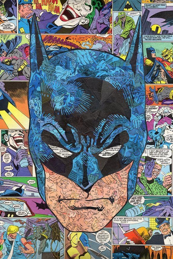Batman Comic Collage Print