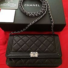 Nova Carteira Chanel Le Boy na cadeia woc Caviar Classic Acolchoado saco de embreagem