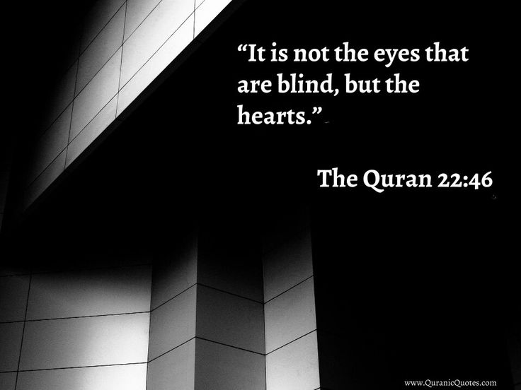 """#5 The Quran 22:46 (Surah al-Haj) """"It is not the eyes that are blind, but the…"""