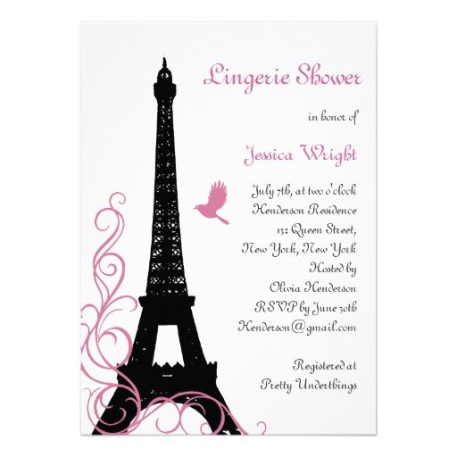372 best Paris Wedding Invitations images on Pinterest Birthday