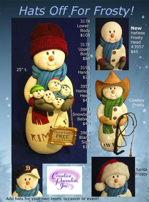 Snowman ceramics