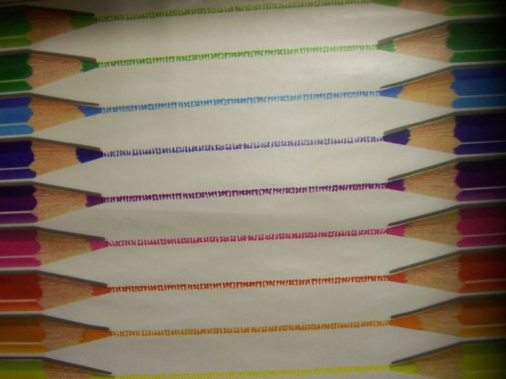 Wipe Clean Tablecloth/Oil Cloth - Multicoloured Children's Pencil Crayons! Only £6.99 per metre! Bright & Colourful - even be great to use in the garden!