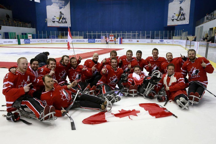Have you heard of Ice Sledge Hockey? It's the Paralympic version of Ice Hockey, for male athletes who have a physical disability in the lower half of their bodies, and governed by the International Paralympic Committee.  We hadn't heard of Ice Sledge Hockey, until we saw this sensational celebratory photo of Canadians, who won the Ice Sledge Hockey World Championships in South Korea, yesterday... #IceSledgeHockey #Hockey #EveryoneMatters #EM #Canada #IPC #IceHockey #athletes